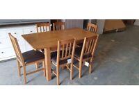 Fully Assembled Ashwell Oak Veneer Extending Table & 6 Chairs