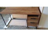 Fully Assembled Habitat Nomad 2 Drawer Desk - Oak Effect