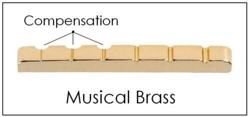 USA MADE AxeMasters 42mm COMPENSATED Brass Nut made for FENDER Guitar