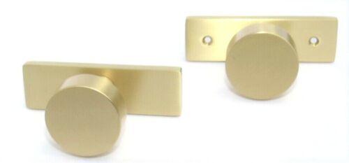 Assa Abloy Emtek Passage STRETTO - Round Door Knob NEW Satin Brass Gold