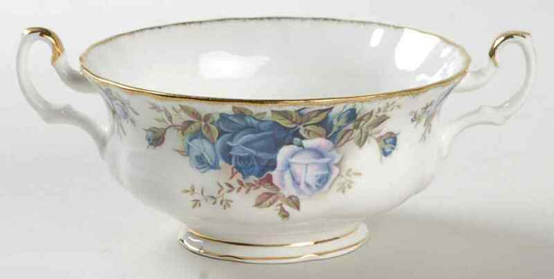 Royal Albert Moonlight Rose Footed Cream Soup Bowl 2643572