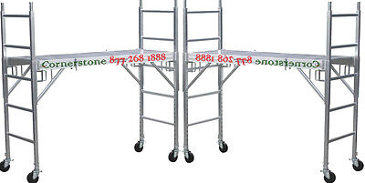 Two New Aluminum Scaffolding Rolling Towers With All Aluminum Deck U Locks Cbm