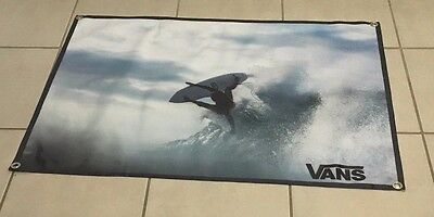 Vans surfing poster skateboard banner board wet suit sign logo equipment B24
