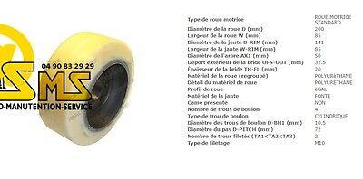 Wheel Cogs Vulkollan Jungheinrich 200 3 1132in Pallet Truck Stacker Ejc 08 10