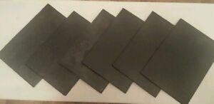 Set of 6 Slate Serving Platters 25cm x 17.5cm Plates Starters Sushi.