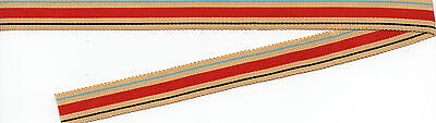 AFRICA STAR  MINIATURE MEDAL  RIBBON OLD SILK/COTTON 40 INCHES (1 METRE)