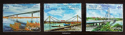 2011 SERBIA-COMPLETE SET MNH BRIDGE BOAT SHIP BRIDGES RIVER TRAMWAY JD