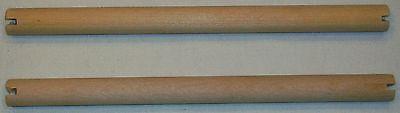 "2 PACK BULK HARDWOOD SMALL PARAKEET CANARY BIRD PERCHES 7"" LONG NEW"