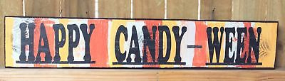 AG Designs Halloween Decor - Long Mantle Sign Happy Candy-Ween #82411