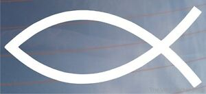 Ichthys/Fish/Christian Symbol Religious Car/Van/Window Sticker/Decal