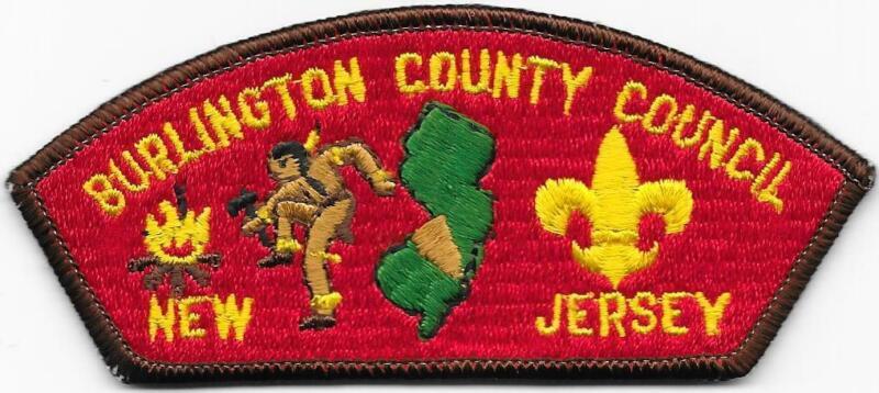 Burlington County Council Strip Plastic Back CSP SAP Boy Scout of America BSA