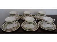Vintage bone china 18 piece Duchess tea set