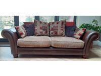Beautiful, large 3 piece DFS Perez Sofa set. 4 seater, 3 seater & Armchair
