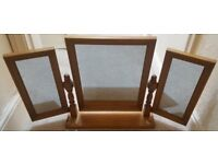 Solid Pine Dressing Table, Mirror and Stool