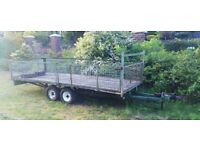 Trailer twin wheel mesh drop side approx 12x5
