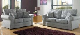 *COME AND VIEW IT ,TRY IT THEN BUY IT*BRAND NEW 2018 ROMA CUSTOMIZABLE FABRIC 3+2 SEATER SOFA SUITE