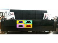 !!LUXURY !! FABRIC STORAGE SOFA BED, 3 SEATER SLEEPER FABRIC SETTEE - EXPRESS DELIVERY,BEST BUY ,,