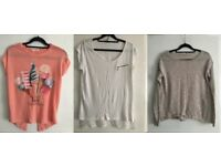 Pink, White T-Shirts& Bright Brown Shirts/ Size XS/S (UK6/8)