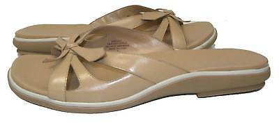 Nine West Fort Lt Natural Leather Woman Sandal Size 8M Natural Woman Sandale