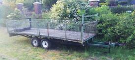 Twin wheel mesh drop sided trailer wooden floor requires a little tlc tows very well