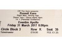2 Russel Kane live tickets in London (31/03)
