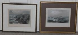 Aberdeen and Slaines Castle by W.H. Bartlett Professionally Crafted Prints set
