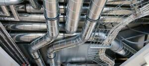 Industrial duct pipe dust collection