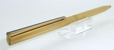 S.T. Dupont Vermeil .925 Silver Ballpoint Pen, Blue Laque Clip