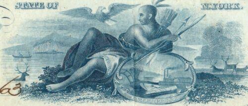 BANK of BINGHAMTON NY~Engraved Certificate of Deposit~1863~ABNC~Civil War~Indian