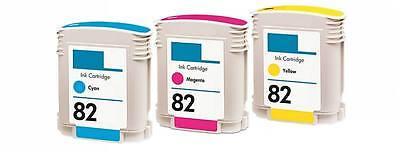 Compatible HP 82 Magenta Cyan Yellow Color Set Ink (Compatible Inkjet Cartridge Set)