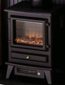ADAM HUDSON ELECTRIC STOVE IN BLACK (brand new and boxed)