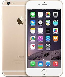 128GB IPHONE 6 PLUS WHITE GOLD+ACCESSORIES-FACTORY UNLOCKED