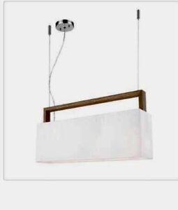 Luminaire contemporain, 7 x 60 watts, jamais utilisé
