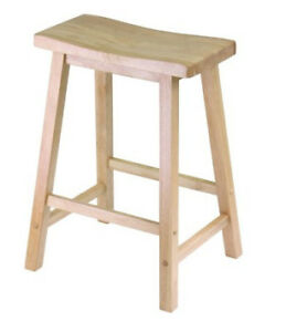 Winsome Wood 24-Inch Saddle Seat Stool