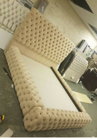 chesterfield bed mink color king size PHI