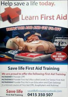 SAVE LIFE FIRST AID TRAINING Tarneit Wyndham Area Preview