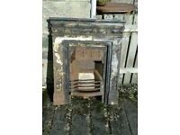 Victorian Cast Iron Fireplace / Fire Insert