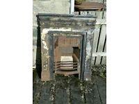 Victorian Cast Iron Fireplace / Fire Insert