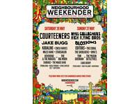 Neighbourhood weekender Saturday tickets
