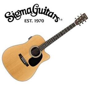 NEW* SIGMA ACOUSTIC ELECTRIC GUITAR SD28CE 140965639 DREADNOUGHT SOLID TOP CUTAWAY