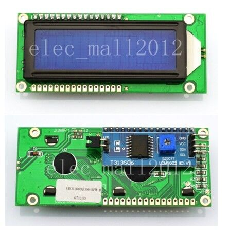 New Blue IIC I2C TWI 1602 16x2 Serial LCD Module Display Arduino compatible