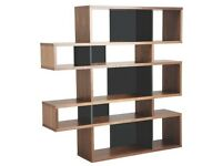 Habitat Tall Walnut/Black Shelving Unit