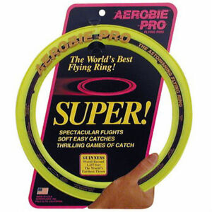 Aerobie Pro 13 inch Flying Ring Frisbee - Yellow
