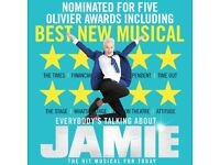 4 TICKETS (KIDS GO FREE): `Everybodys Talking About Jamie`: 4 tickets for 23rd August 2018 @7.30PM