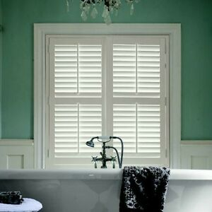 Indoor Window Privacy Shutters - White