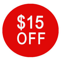 Save $15 off your first booking