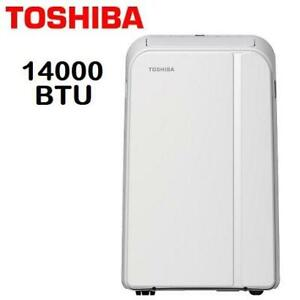 NEW TOSHIBA 14000 BTU PORTABLE AC RAC-PD1411CRC 252406070 AIR CONDITIONER DEHUMIDIFIER COOLING INDOORS