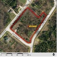 25 treed building lots in subdivision 130 km NW of Toronto