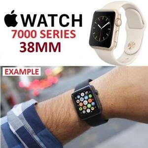 RFB APPLE WATCH 7000 SERIES 38MM A1553 225463834 GOLD CASE ANTIQUE WHITE SPORTS BAND REFURBISHED