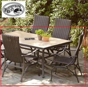 2 NEW HAMPTON BAY PATIO CHAIRS Pembrey Patio Dining Chairs (2-Pack) PATIO FURNITURE Home Outdoors